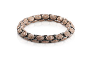 Anaconda bracelet with black and brown diamonds