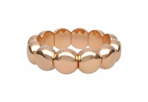 Aura Dama medium bracelet in rose goldplated ceramic