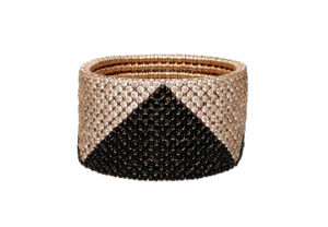 Cashmere gold bracelet with brown and black diamonds