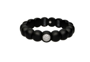 Dama small bracelet in black matte ceramic and diamonds