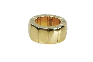 Aura anello in ceramica dorata gialla
