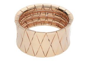 Aura rose goldplated ceramic bracelet