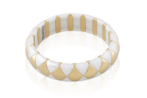 Aura White and Yellow Goldplated Ceramic bracelet