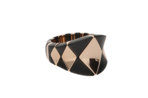 Aura Black and Rose Goldplated Ceramic Ring