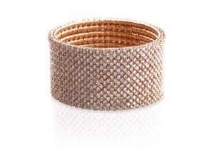 Cashmere bracciale elastico in oro rosa 18k e diamanti brown