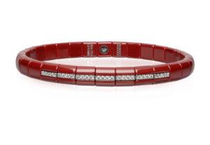 Pura red ceramic bracelet
